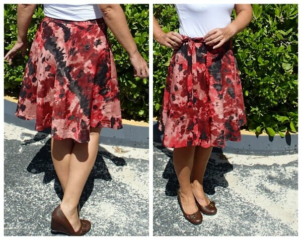 Half circle wrap skirt pattern - the sewing - So Sew Easy