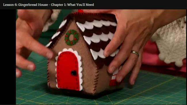 Review of the Fab Felt Holiday Crafts class and a great discount.