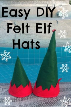 These easy felt elf hats look fun to make.