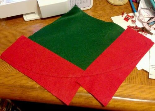 Elf Hats - initial stitch