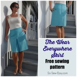 The perfect skirt to fill a gap in my wardrobe. Something I can wear everywhere and every day. Love the pleat in front to give plenty of room without too much flare.