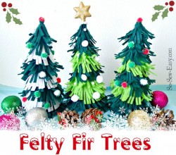 Easy to make felt Christmas Trees.