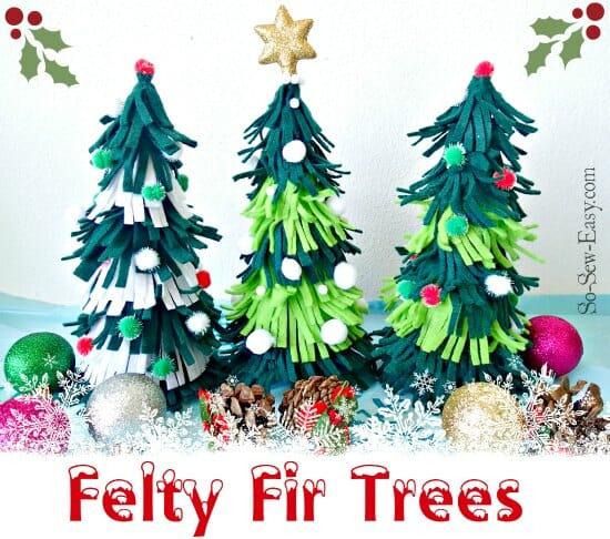Easy to make felt Christmas Trees.