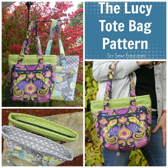 The Lucy Tote Bag Pattern.