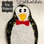 This penguin pot holder is so cute! Can make this a boy or girl potholder. Christmas fabrics are good for this too.