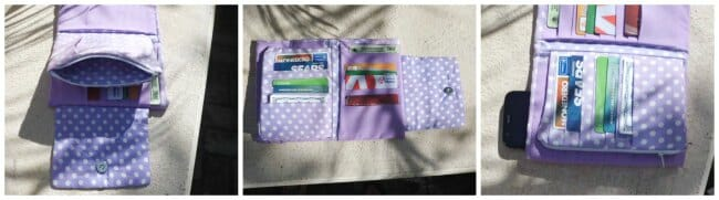 The Ultimate Wallet. Simply the best wallet sewing pattern. Spaces for everything, almost like a small clutch purse.
