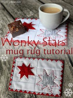 Wow, love this Wonky Stars Christmas Mug Rug. Pretty idea.