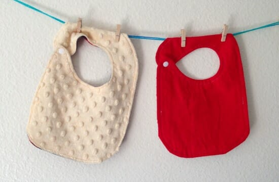 Christmas Baby Bib - backs