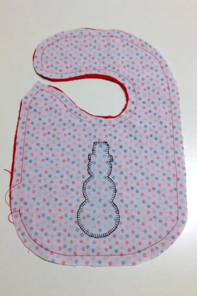 Christmas Baby Bib - inside out