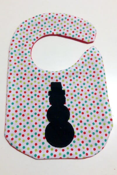 Christmas Baby Bib - right side