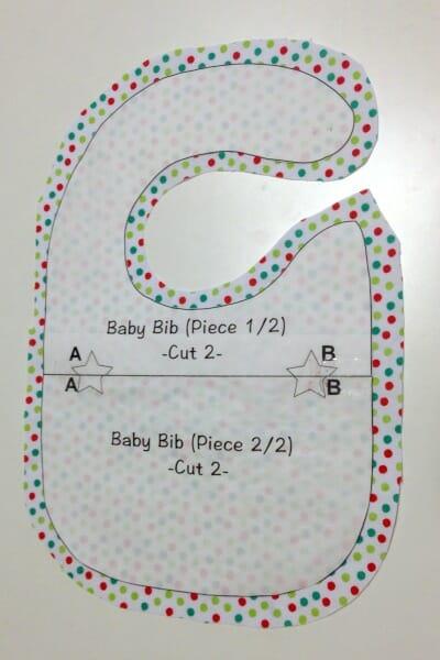 Christmas Baby Bib - seam allowance