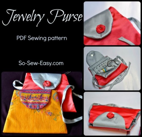 Jewelry purse - love this jewelry case. Soft and padded for travel but nice enough to use on your dresser every day.
