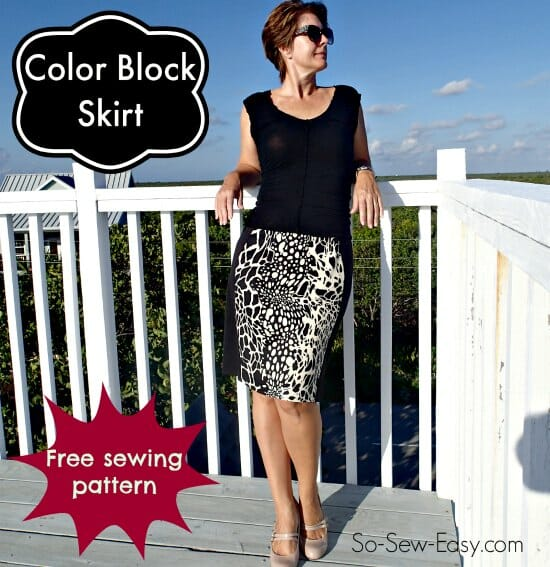 Color Block Skirt Free Skirt Pattern So Sew Easy