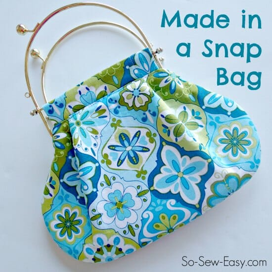 I've never seen this type of easy bag pattern before. Love those handles!