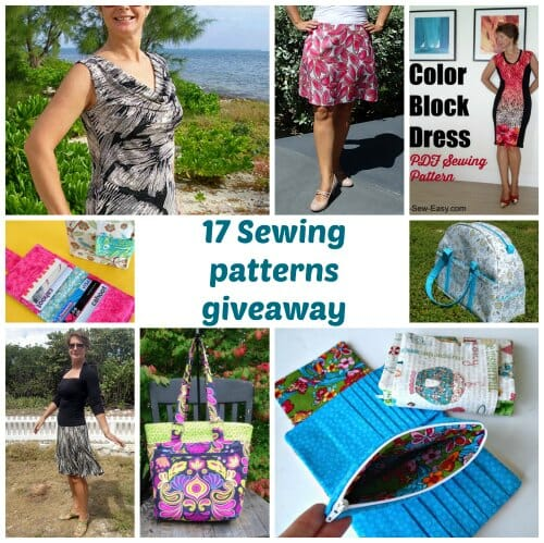 Win a Pattern of the Month Club giveaway.  Win 17 sewing patterns - 2 prizes.