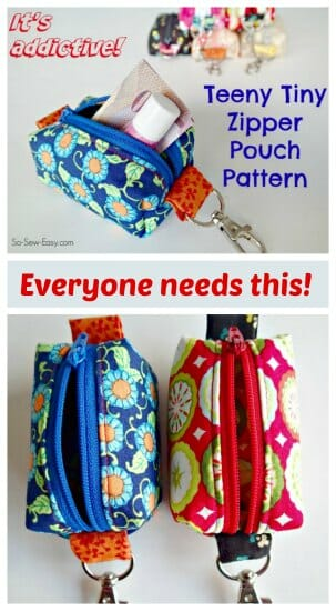 Teeny Tiny Zipper Pouches - pretty much everyone I know will be getting one of these as a gift this year. Addictive free pattern!