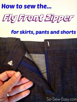 How to sew a fly front zipper. I;d always been intimidated but actually this looks easy!