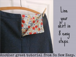 How to line a skirt. Ah ha moment here. This is so straightforward.