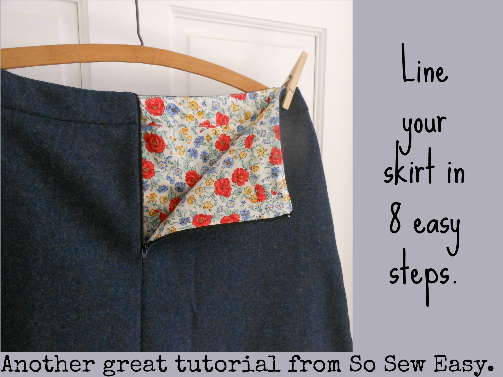 How to Line a Skirt in 8 Easy Steps - So Sew Easy