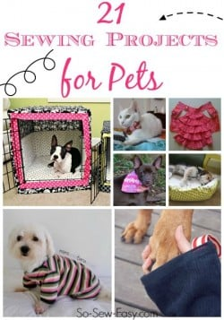 Sewing projects for pets. Lots of both fun and practical ideas here for animal lovers.