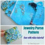 Jewelry purse for home or travel. Has a place for everything and all explained in the video tutorial.