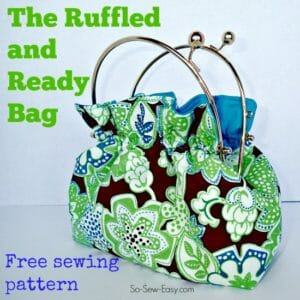 Easy to sew free bag pattern. The frame can be removed to use in other bags too so you can make lots of different covers and swap them out.