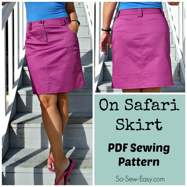 On Safari Skirt Pattern So Sew Easy