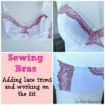 Review of the Craftsy Class on Bra Making, Construction and Fit. Adding lace and working on the perfect fit.