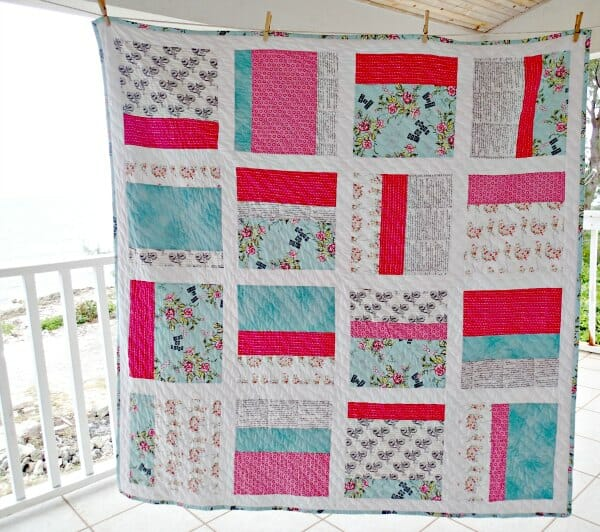 Making my 2nd quilt. Cherie Jubilee from a ready made kit. Love the mix of vintage and modern fabrics.