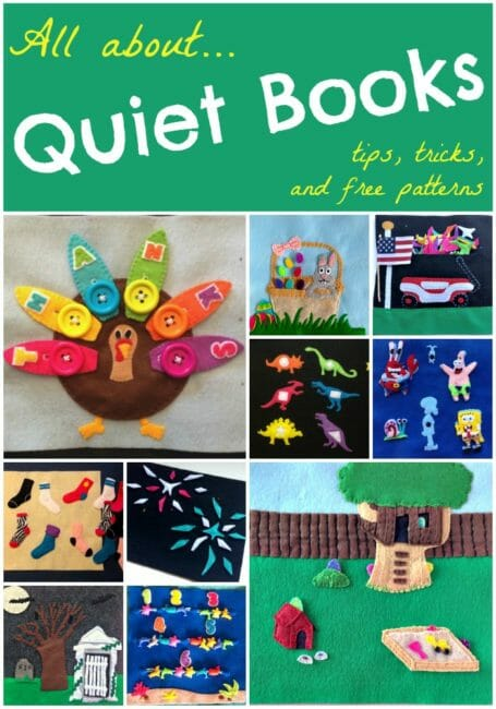 Everything you need to know to get started in sewing quiet books, or activity books for kids