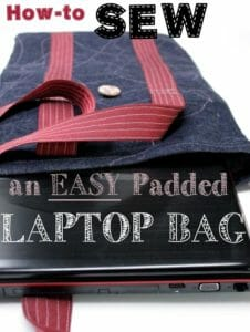 Padded Laptop Bag Tutorial. Nice and quick and easy but strong too.