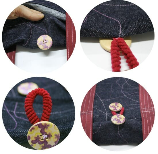 Serger Pepper - Padded Laptop Bag Tutorial - SEW THE BUTTONS on