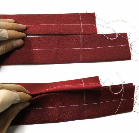 Serger Pepper - Padded Laptop Bag Tutorial - sew straps together