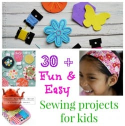 30 + fun and easy sewing projects for kids of all ages. I'm going to teach my niece some of these.
