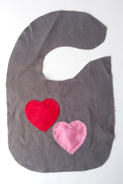 Vday Baby Bib - Applique