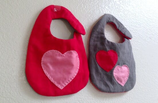 Vday Baby Bib - finished