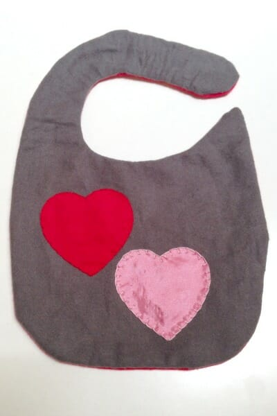 Vday Baby Bib - flipped right side
