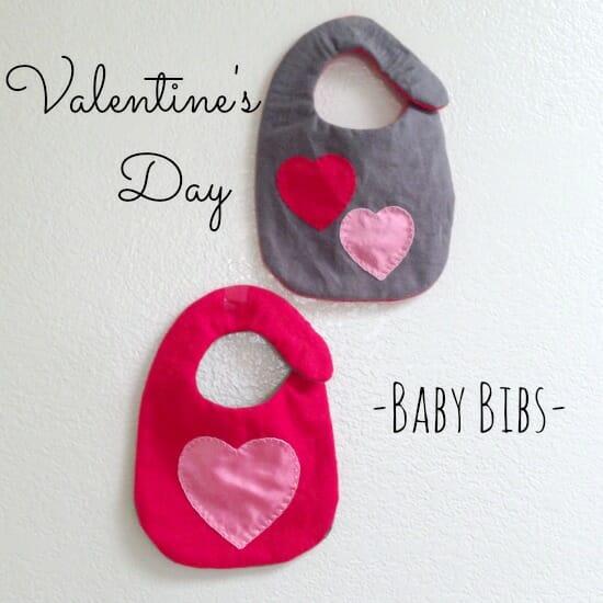 Vday Baby Bib -square