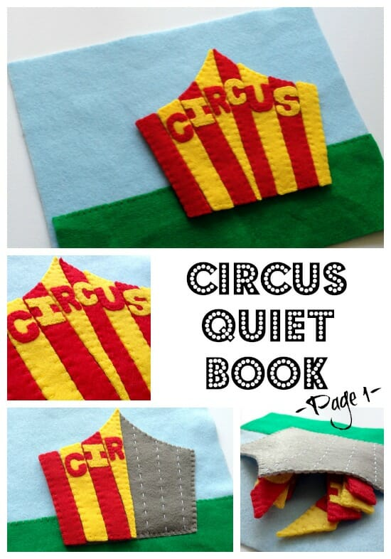For the next few months, I will lead you through creating a few pages I have designed. Each post will contain a full tutorial and free pattern and the last post will end with details on binding options, care and maintenance, etc. I have designed all the pages around a circus theme, with simple activities, to introduce you to the art of building quiet books.