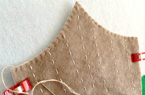 Circus Quiet Book Page 1 - background blanket stitch