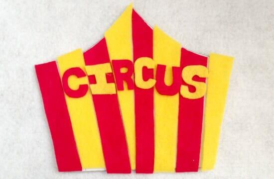Circus Quiet Book Page 1 - pieces
