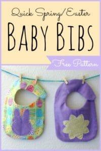 Easter Spring Baby Bib
