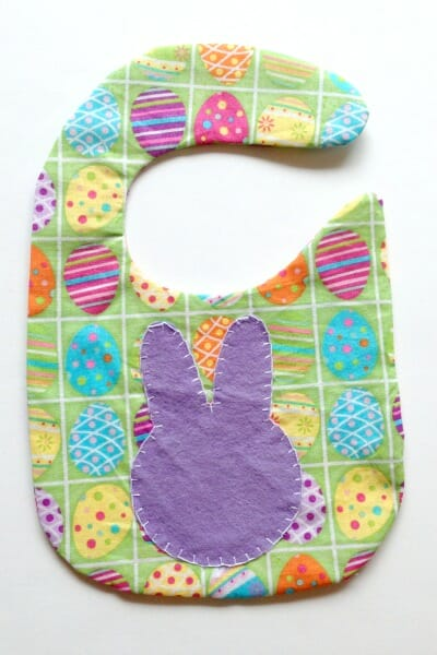 Easter Spring Baby Bib - bunny right side