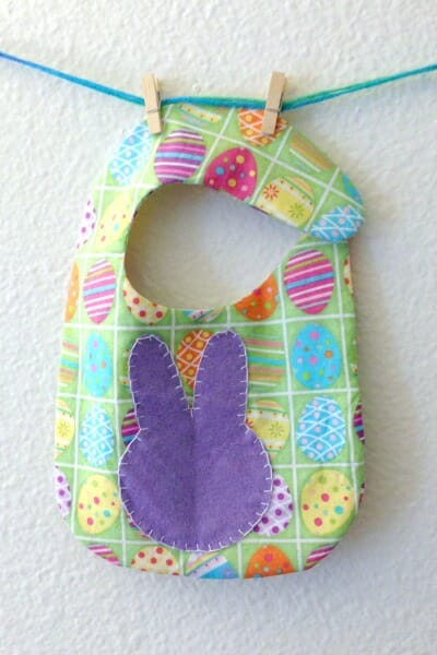 Easter Spring Baby Bib - bunny