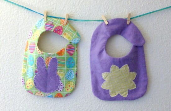 Easter Spring Baby Bib - finished
