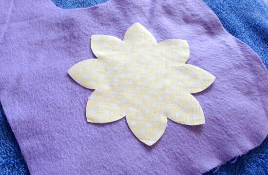 Easter Spring Baby Bib - flower applique