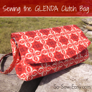 Video tutorial for how to sew the GLENDS Convertible Clutch bag from Swoon Patterns.