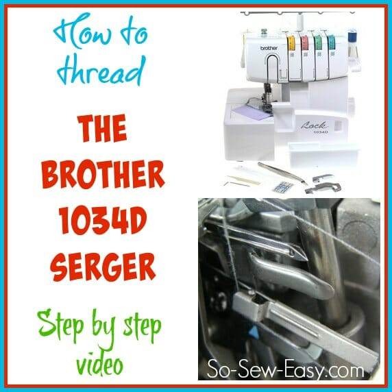 I get it at last!  This step by step shows it all nice and slow and easy.  How to thread the popular Brother 1034d serger.