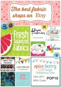 This page lists exclusive discounts to lots of Etsy fabric shops. I found some new favorites.