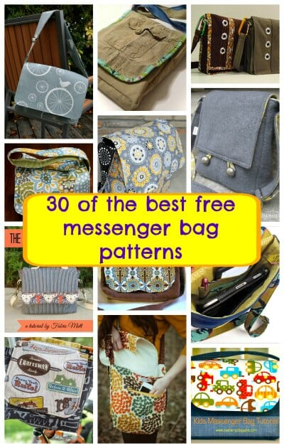 The Best Free Messenger Bag Patterns - So Sew Easy